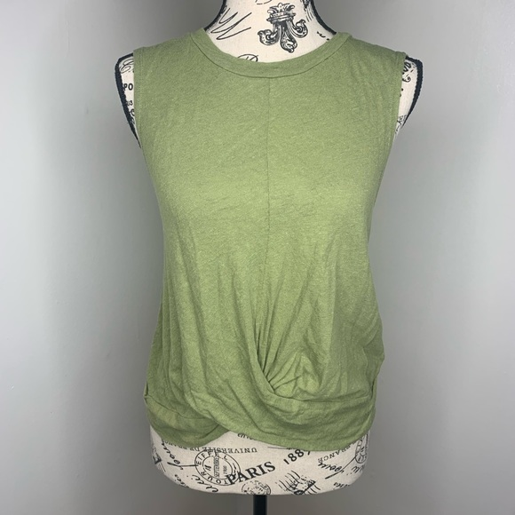 Anthropologie Tops - DELETTA | Anthro Green Front Twist Knot Tank